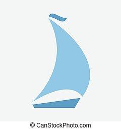 boating logo vector sailing