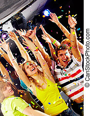 Gladness - Photo of excited teenagers raising their arms in...