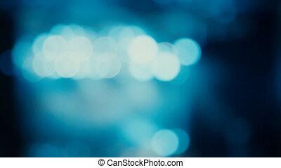 bokeh of a flashing light