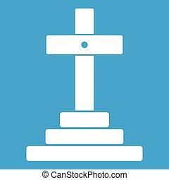 Grave icon white