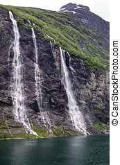 Seven Sisters, the 39th tallest waterfall in Norway - The...