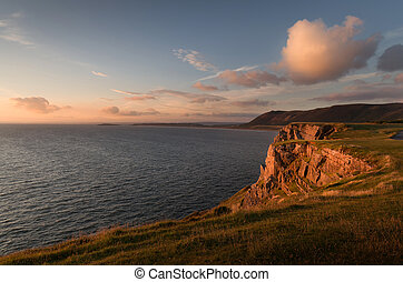 Rhossili Bay cliffs, South Wales - The cliffs that lead to...