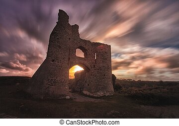Pennard castle Gower - Dramatic sweeping psychedelic skies...
