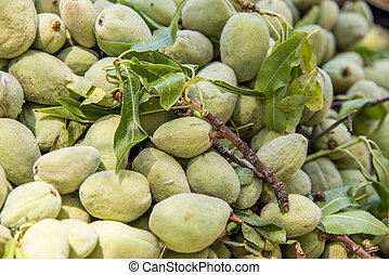 Green Almond Nuts - Green almond, also known as bitter...