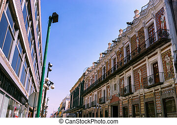 Colonial Architecture in Puebla - View of colonial...