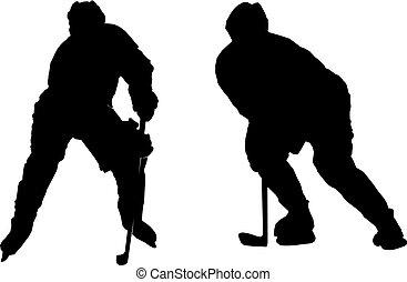 Ice hockey - Illustration of playing ice hockey
