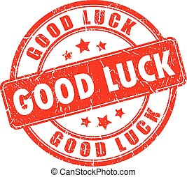 Good luck rubber stamp