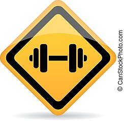 Dumbbells vector sign isolated on white background