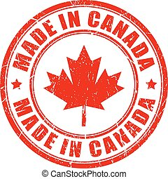Made in Canada rubber stamp - Made in Canada rubber vector...