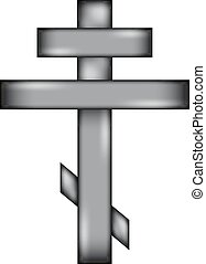 Religious orthodox cross icon sign. - Religious orthodox...