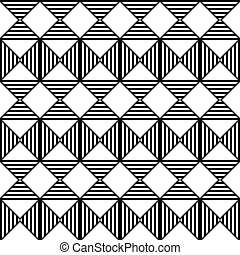 Seamless Rhombus Pattern. Vector Aztec Background