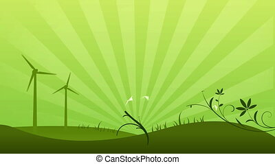 Green Power Background
