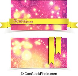 Horizontal Banner Set - Horizontal banner set with abstract...