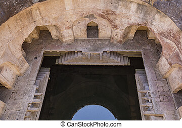Jahaz Mahal , Ship Palace in Mandu, Madhya Pradesh, India -...