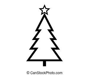 Christmas tree on white