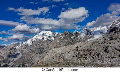 Stelvio pass time lapse in Dolomite Alps - Top of Stelvio...
