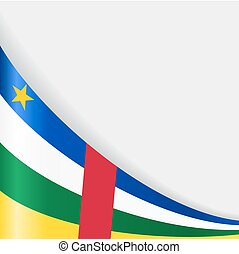 Central African Republic flag background. Vector...