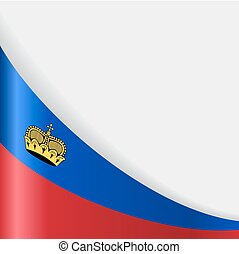 Liechtenstein flag background. Vector illustration. -...