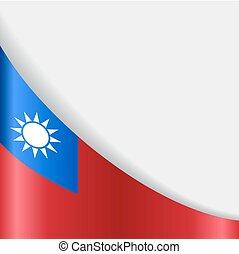 Taiwan flag background. Vector illustration. - Taiwan flag...