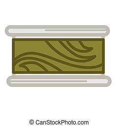 Preserved green seaweed - Vector illustration of can with...