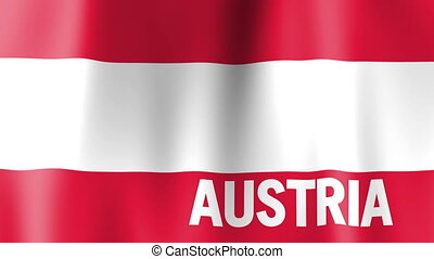 Waving Flag of Austria - Animation of the flag of Austria...