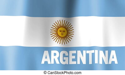 Waving Flag of Argentina - Animation of the flag of...