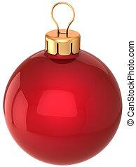 Christmas ball classic (Hi-Res) - Red shiny Christmas ball...