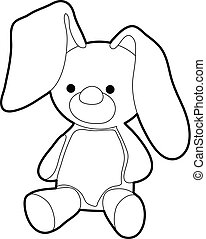 Soft toy icon, outline style - Soft toy icon. Outline...