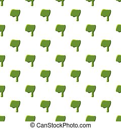 Punctuation mark dash made of green slime - Punctuation mark...