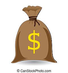 full money sack of dollars
