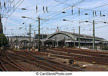 Cologne central station - Famous railway station -...