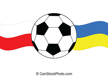 soccer ball with waving flags