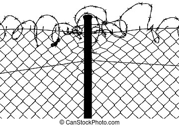 fence with barbed wires