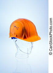 Hard hat of a construction worker - A construction worker...