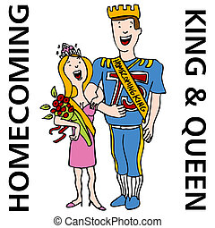 Homecoming King and Queen - An image of the homecoming king...