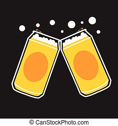 beer can vector - beer can cartoon vector graphic or...