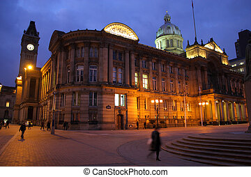 Birmingham Council House at Victoria Square. West Midlands,...
