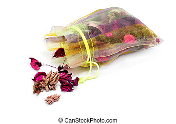 potpourri - a potpourri sachet isolated on a white...