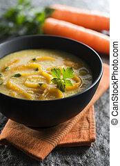 cenoura, sopa