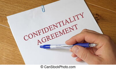 Review of Confidentiality Agreement Concept -...