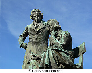 Monument of the Grimm Brothers - Famous literary German...