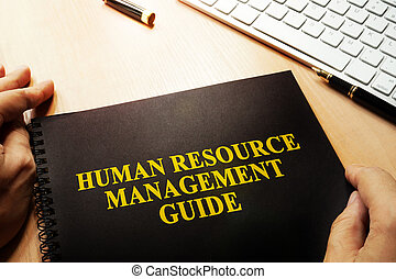 Human Resource Management Guide (HRM) concept.