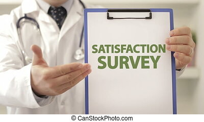 Doctor recommend on SATISFACTION SURVEY - Doctor wearing a...
