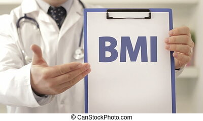 Doctor recommend on BMI treatment