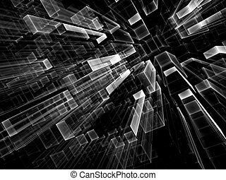 Abstract geometric background - digitally generated image -...