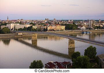 Novi Sad city on Danube river - Novi Sad city on the Danube...