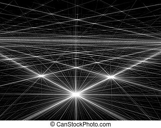 Bright stars - abstract digitally generated image - Abstract...