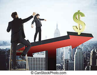 Finance and manipulation concept - Abstract image of...
