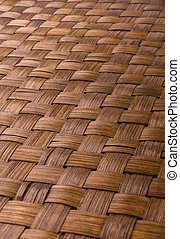 braided rattan Mat - stand food