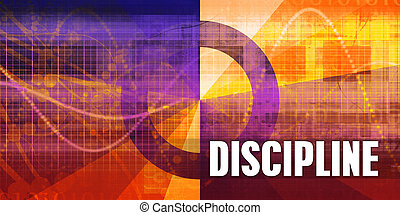 Discipline Focus Concept on a Futuristic Abstract Background